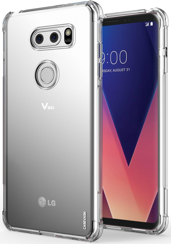 LG V30 / LG V30S / LG V30 Plus/LG V30S ThinQ/LG V35 / LG V35 ThinQ Case, CASEVASN [Slim Thin] Anti-Scratches TPU Gel Slim Fit Soft Skin Silicone ...