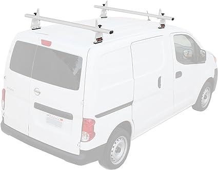 "Fits:Nissan NV200 Aluminum 3 Bars 60/"" Cargo Van Top Ladder Roof Racks Black"