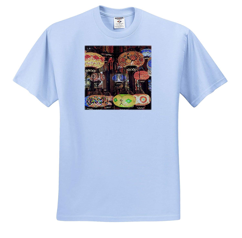 Colorful Glass Mosaic Lamps Turkey 3dRose Danita Delimont ts/_312877 Decor - Adult T-Shirt XL