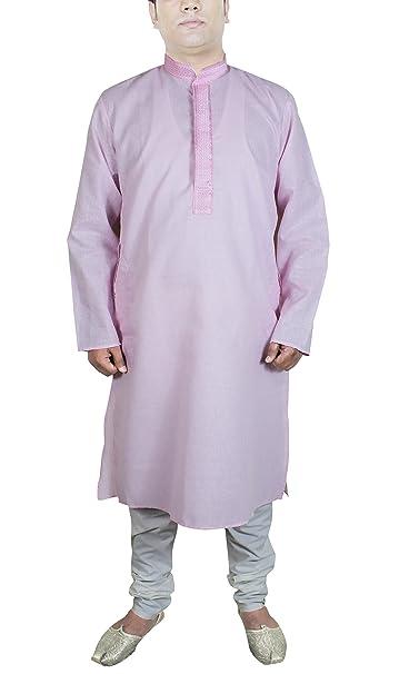 Camisa hombre manga larga pijama color rosado manga larga algodón vestidos premama