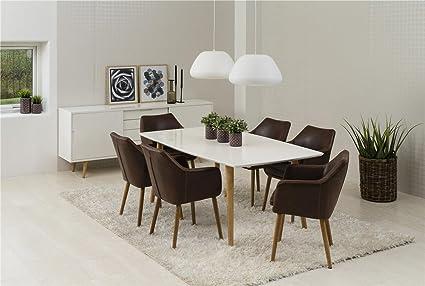 Ensemble Table Avec 6 Chaises Avec Accoudoirs Groupe Avec Chaises En