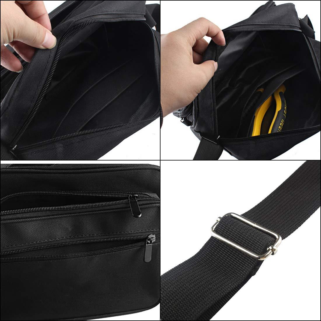 Andux Zone Bolsa de herramientas de lona Bolsa de hombro Kit de hardware Bolsos de colecci/ón gruesos Bolso electricista negro WJSNB-03