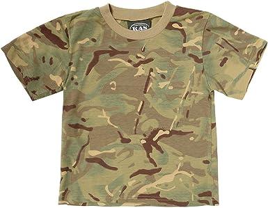 KAS Ejército Niños MTP Camuflaje Camiseta de algodón – Multi Terrain Camuflaje a Partir de 3 – 13 años MTP Camouflage Extra-Large: Amazon.es: Ropa y accesorios