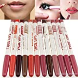 ShungHO 12PCS Lot Colors Prof Lipliner Waterproof Lip Liner Pencil Makeup Cosmetic Set