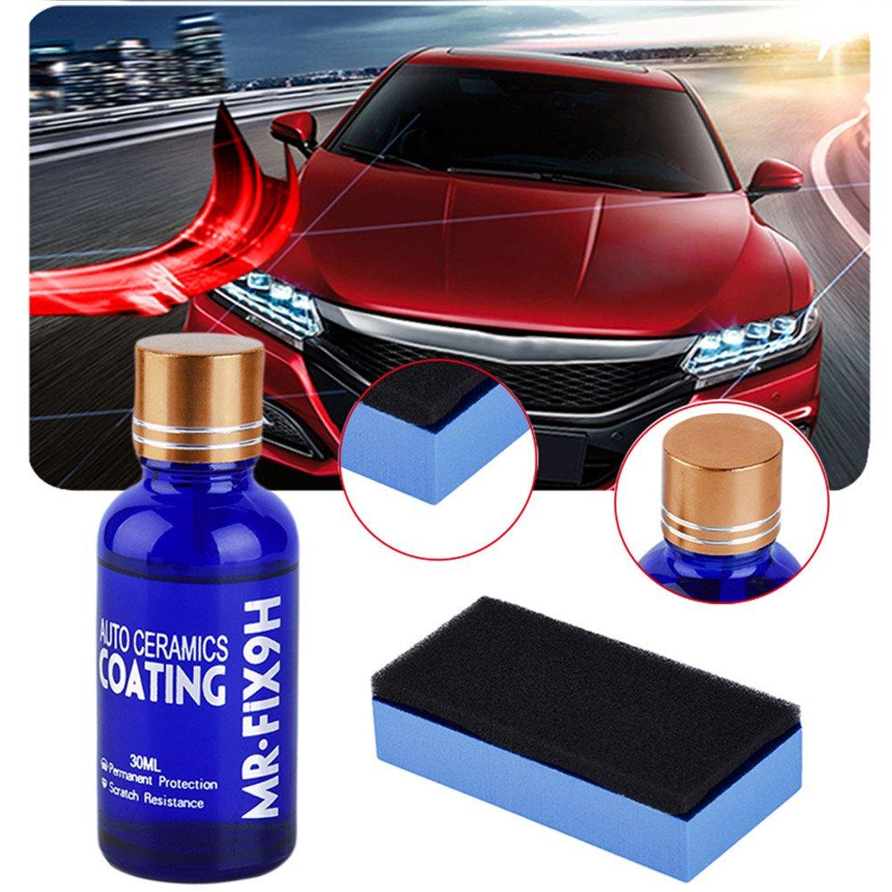 Hjuns Polish liquide anti-rayures pour voiture, moto, protection de la peinture, revêtement en verre hydrophobe, 30ml free shipping