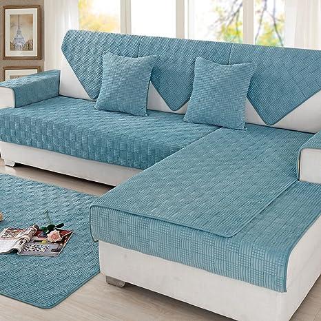 Amazon.com: Cojines de felpa para sofá, tela antideslizante ...