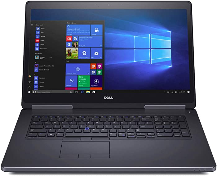 "Dell Precision 17.3"" Laptop 7720 - XEON E3-1535M - 64GB RAM - 4TB Storage (2TB SSD + 2TB HDD ) - Nvidia Quadro P4000 w/8GB GDDR5 - Windows 10 PRO"