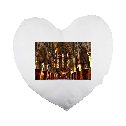 Fotomax Funda de almohada con forma de corazón cristiano ...