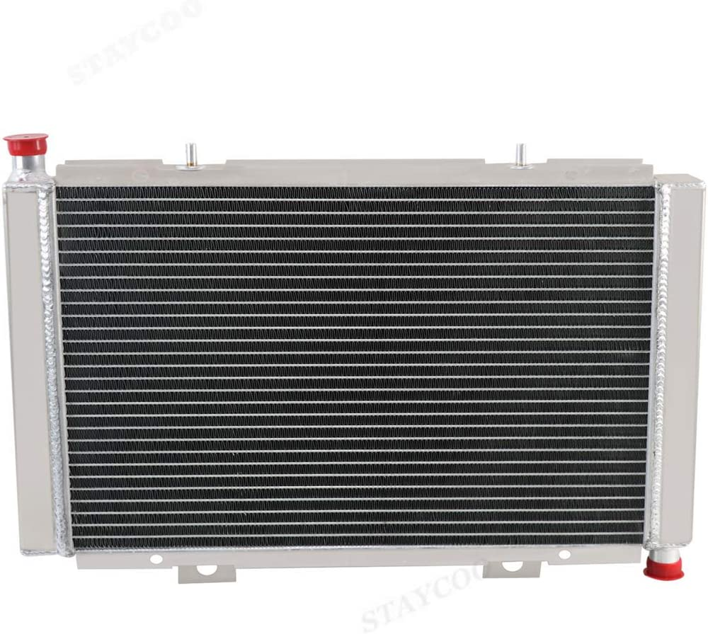 STAYCOO 42MM 2 Row Core Aluminum ATV Radiator for 2011-2019 Can-Am Commander 1000 /&Commander 800R /&Maverick 1000R