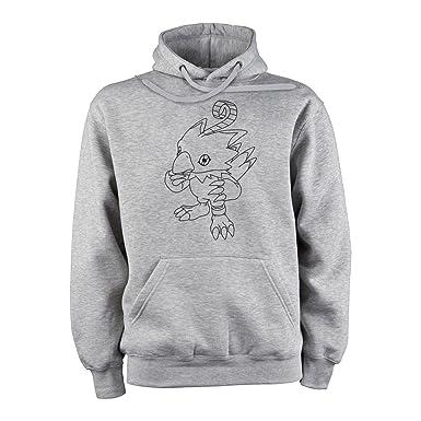 Digimon Biyomon Birdramon Garudamon Black White Sketch XXL Unisex Hoodie