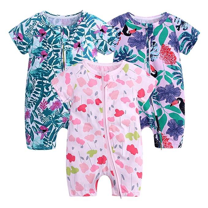 Amazon.com: Recién nacido Verano Baby Boy Girl 3 Pack con ...