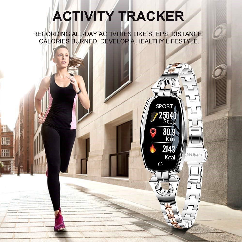 Generic Zgzzq Fitness Tracker, Montres Intelligentes pour Femmes, Montres en Forme pour Femmes, avec Moniteur De Calories Compteur De Calories Podomètre Android/iOS 1