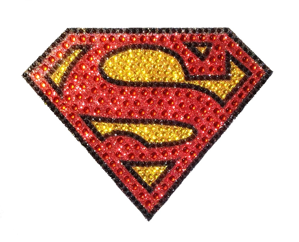 Bling Logo Crystal Studded Superman DC Comics CH SM LOGO001 Car Window Decal Sticker