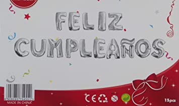 HC enterprise Globos de Foil de Aluminio,Feliz cumpleaños,15 pcs