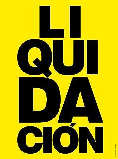 Cartel Liquidación | Cartel publicitario Liquidación ...
