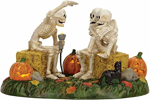 Department 56 Halloween Village Sherlock Bones Accessory Figurine New Skeleton