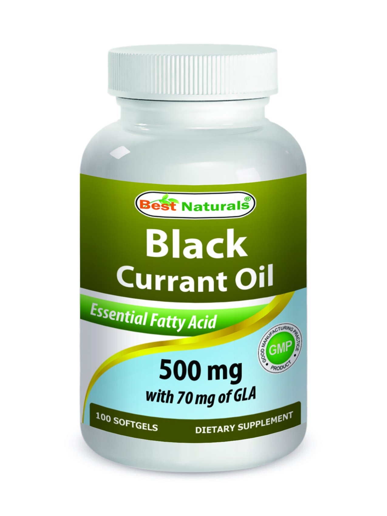 Best Naturals Black Currant Oil 500 Mg with 70 Mg of GLA 100 Softgels