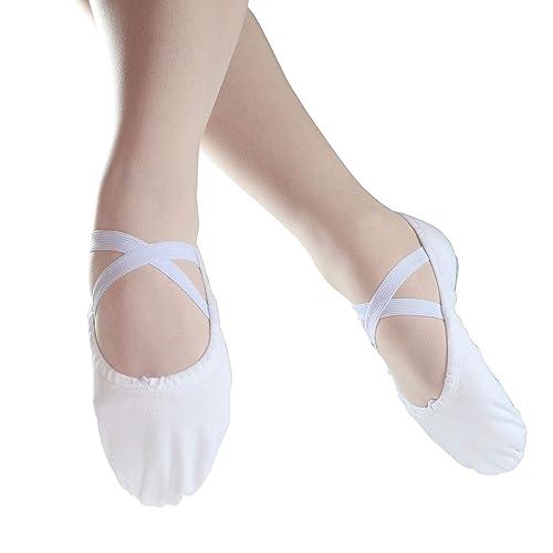 Danzcue Mujer Dividida Suela Lona Zapatillas de Ballet: Amazon.es: Zapatos y complementos