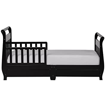 Dream On Me Toddler Bed with Storage Drawer - Black  sc 1 st  Amazon.com & Amazon.com : Dream On Me Toddler Bed with Storage Drawer - Black : Baby