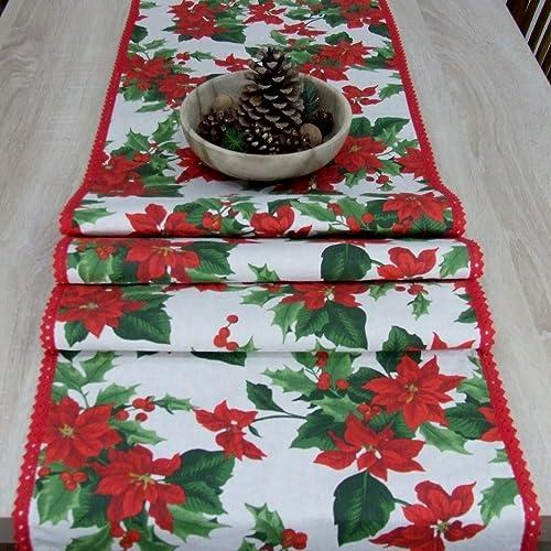 Maravilloso Tapete de Mesa, Rosa Roja de Navidad, Color Natural ...