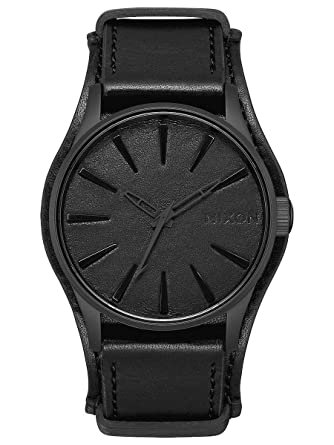 Amazon.com: Nixon Mens Sentry Leather Metallica Collection - Black Album Black/Black Album One Size: Watches