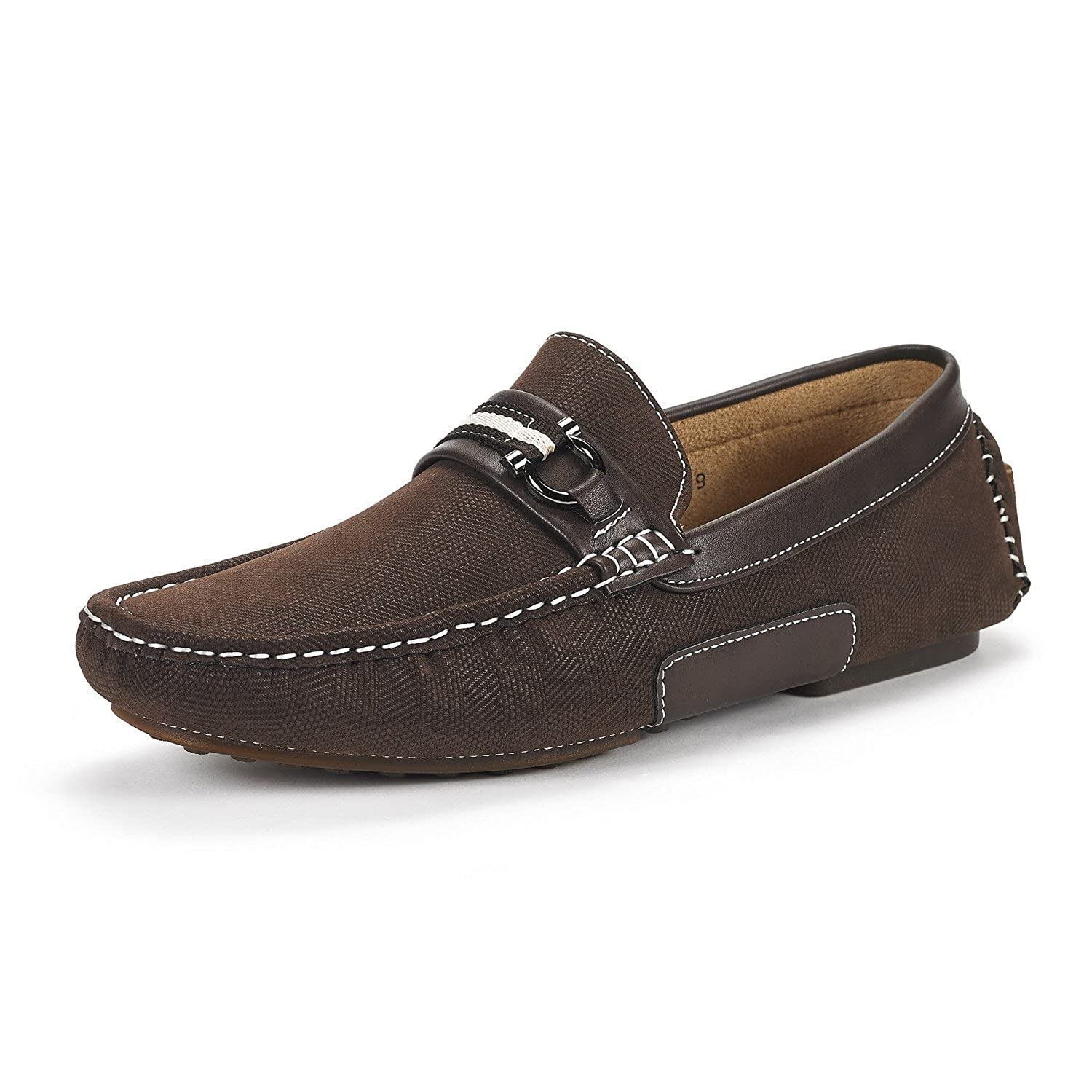 Bruno Marc New York Men's Santoni 05 Penny Loafers Moccasins Shoes by Bruno Marc New York