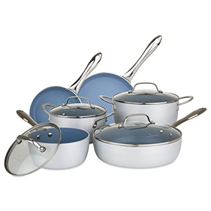 Chopped Brushed Nonstick Cookware Set 10 Piece