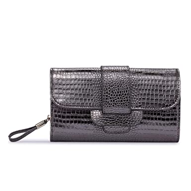 Crocodile Leather Wallet For Women Long clutch Coin Purse Card Phone Holder  Wholesale Brand Wallet (Silvery Grey) at Amazon Women s Clothing store  8d2fb2ab5c7be