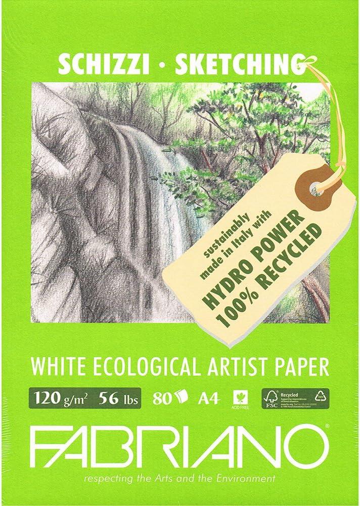 Baumwolle 21 x 29,7 x 0,5 cm Mehrfarbig Unbekannt Fabriano Pastellpapier Bl/öcke