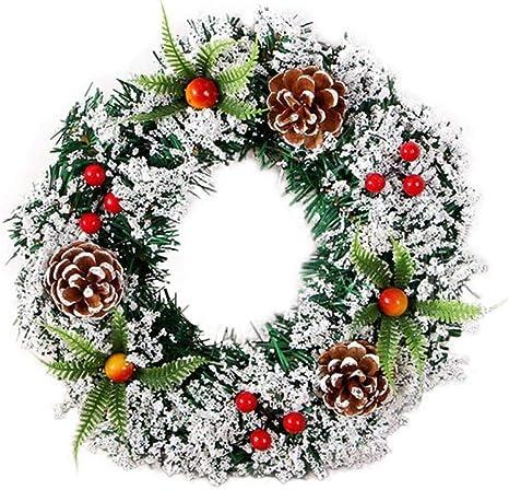 Corona De Navidad Para Decoración De Abeto De Navidad Hecha A Mano Para Interiores Y Exteriores Decoración Para Colgar Mimbre Color 30cm Home Kitchen