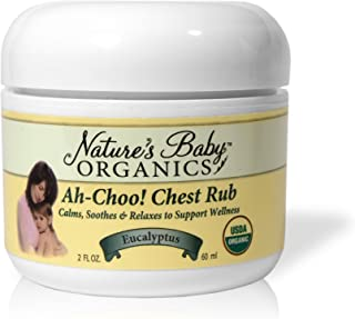 product image for Nature's Baby Organics Organic Ah-Choo! Chest Rub, Eucalyptus, 2-Ounce Jars