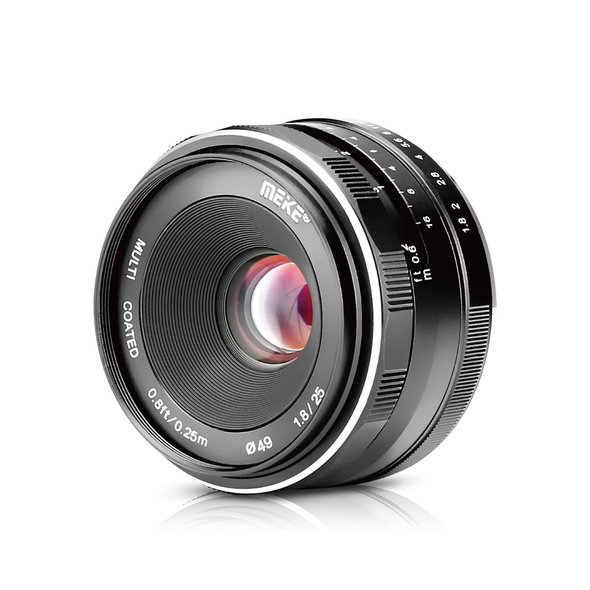 Meike 25mm/F1.8 Large Aperture Manual Focus Prime Lens Sony E-Mount Mirrorless Cameras