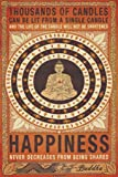 Buddha Thousands of Candles Quote Inspirational Poster Print (Decorative) Unframed 24 x 36 Poster