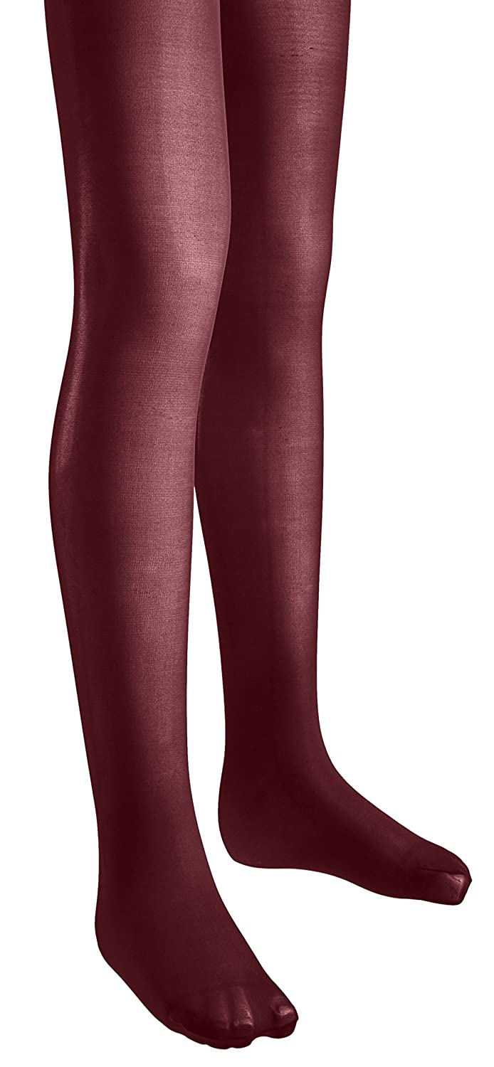 Sportoli Girls Microfiber Deluxe Hold and Stretch Footed Ballet Tights