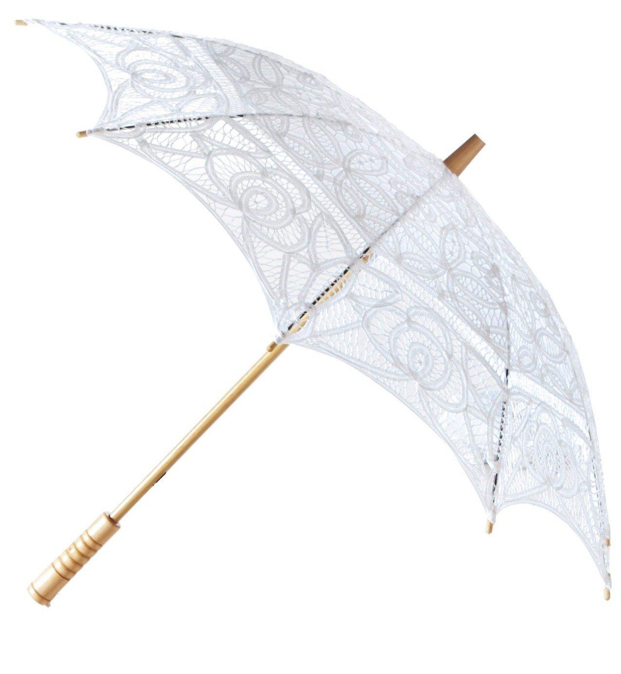 The 1 for Vintage Batternburg Lace Parasol 8 Colors (White)