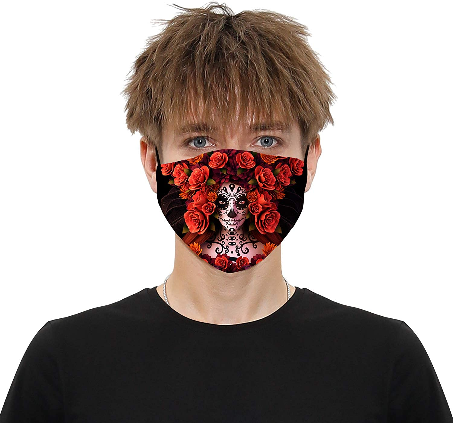 Unisex Anti-Dust Face Cover Washable Fabric Adjustable Mouth Reusable Sport Scarf