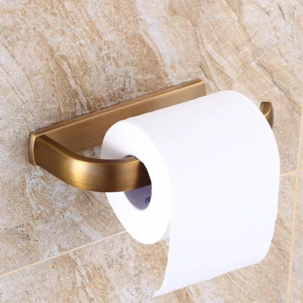 Ruddock DSX51 Antique Brass Carved Bronze Bathroom Accessories Wall Mount (Tissue Holder)