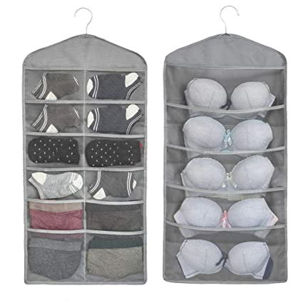 ad390bc16b858 Amazon.com  ALYER Dual-Sided Hanging Closet Mesh Pockets