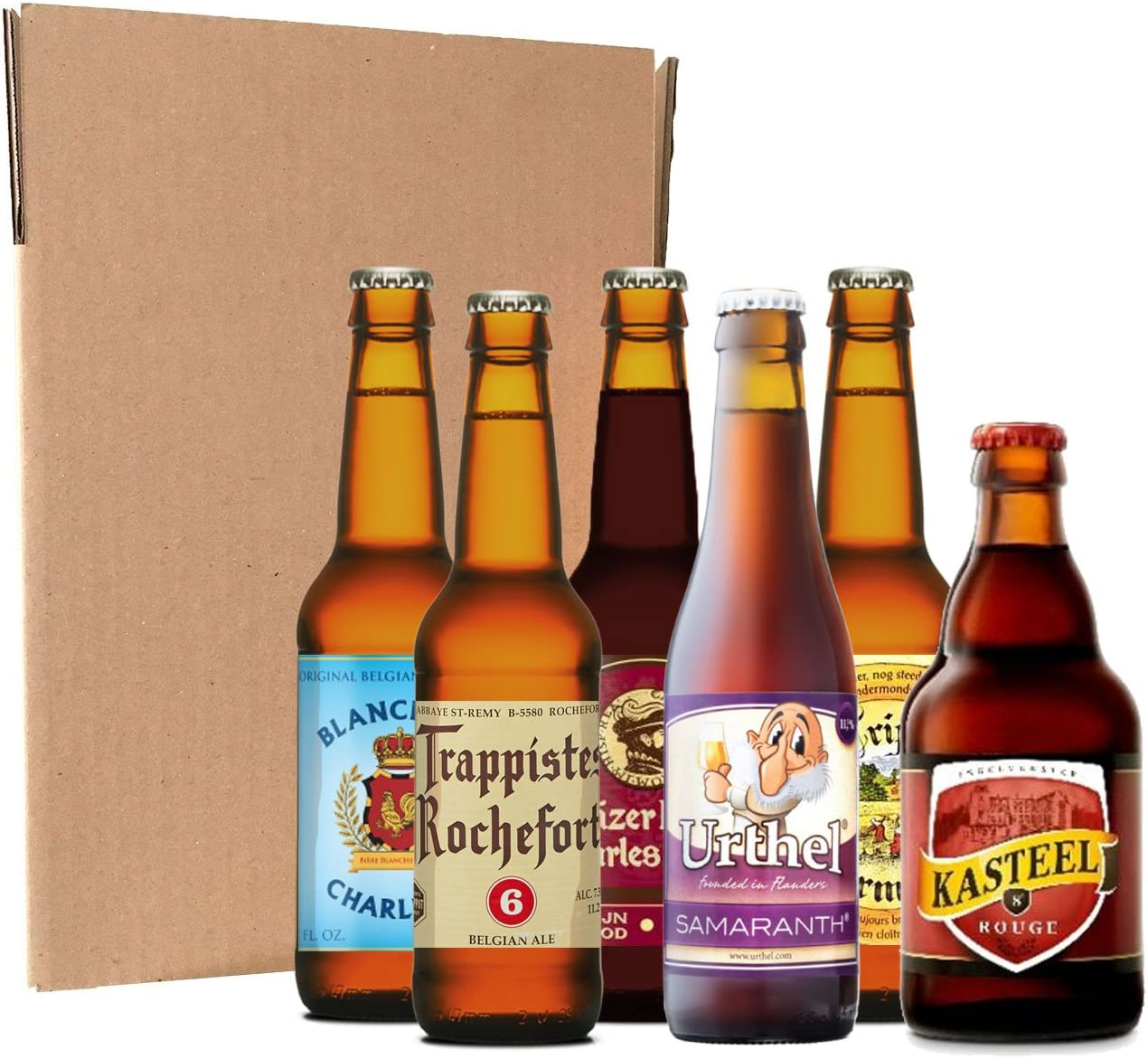 Pack degustación de cervezas belgas (12 botellines / latas de 33 ...