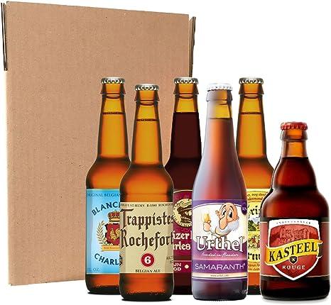 Pack degustación de cervezas belgas (6 botellines / latas de 33 cl ...