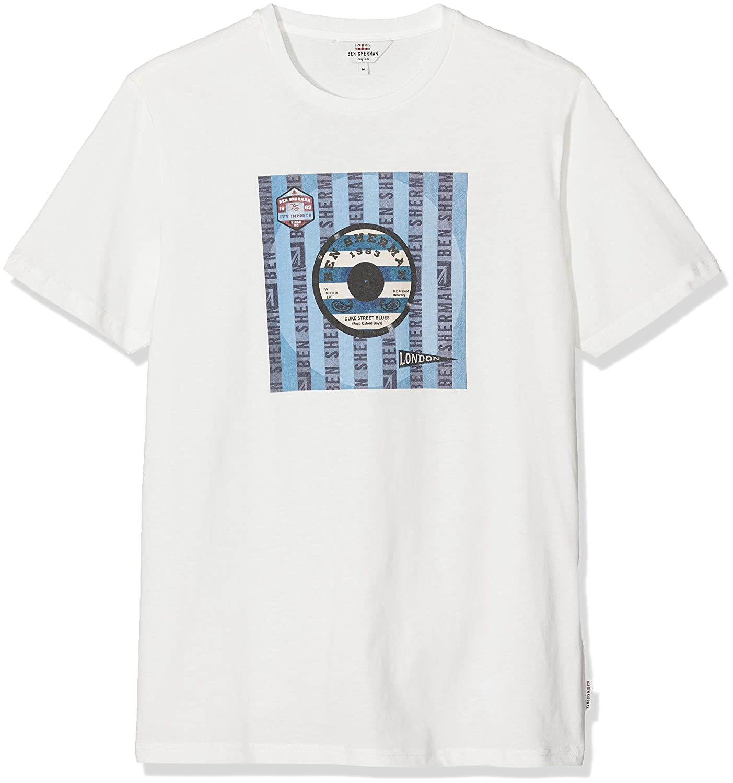Ben Sherman Vinyl Cover tee Camiseta, Blanco (White), X-Small para Hombre: Amazon.es: Ropa y accesorios