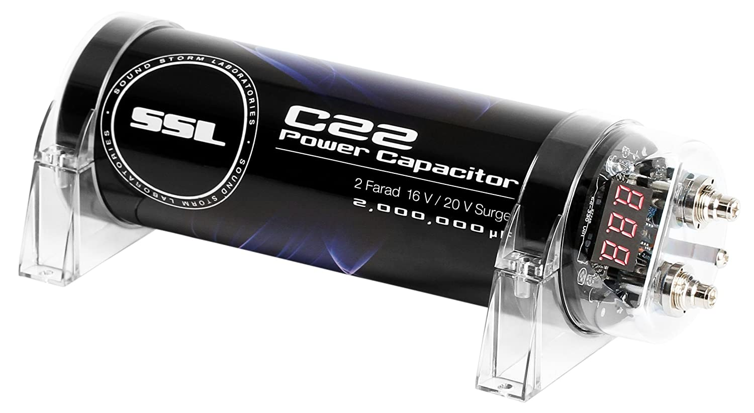 Sound Storm C22 2 Farad Car Capacitor for Energy Storage to Enhance Bass Demand from Audio System