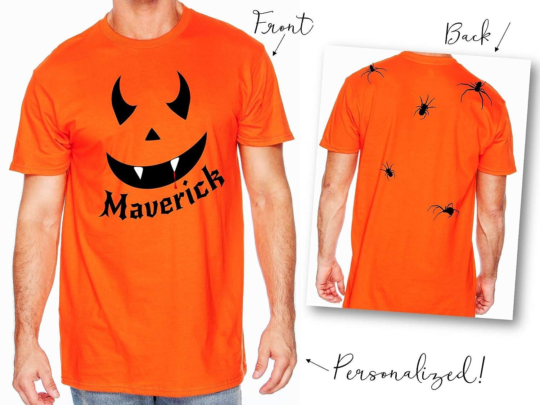Amazon Com Pumpkin Face Halloween Vampire Costume Shirt