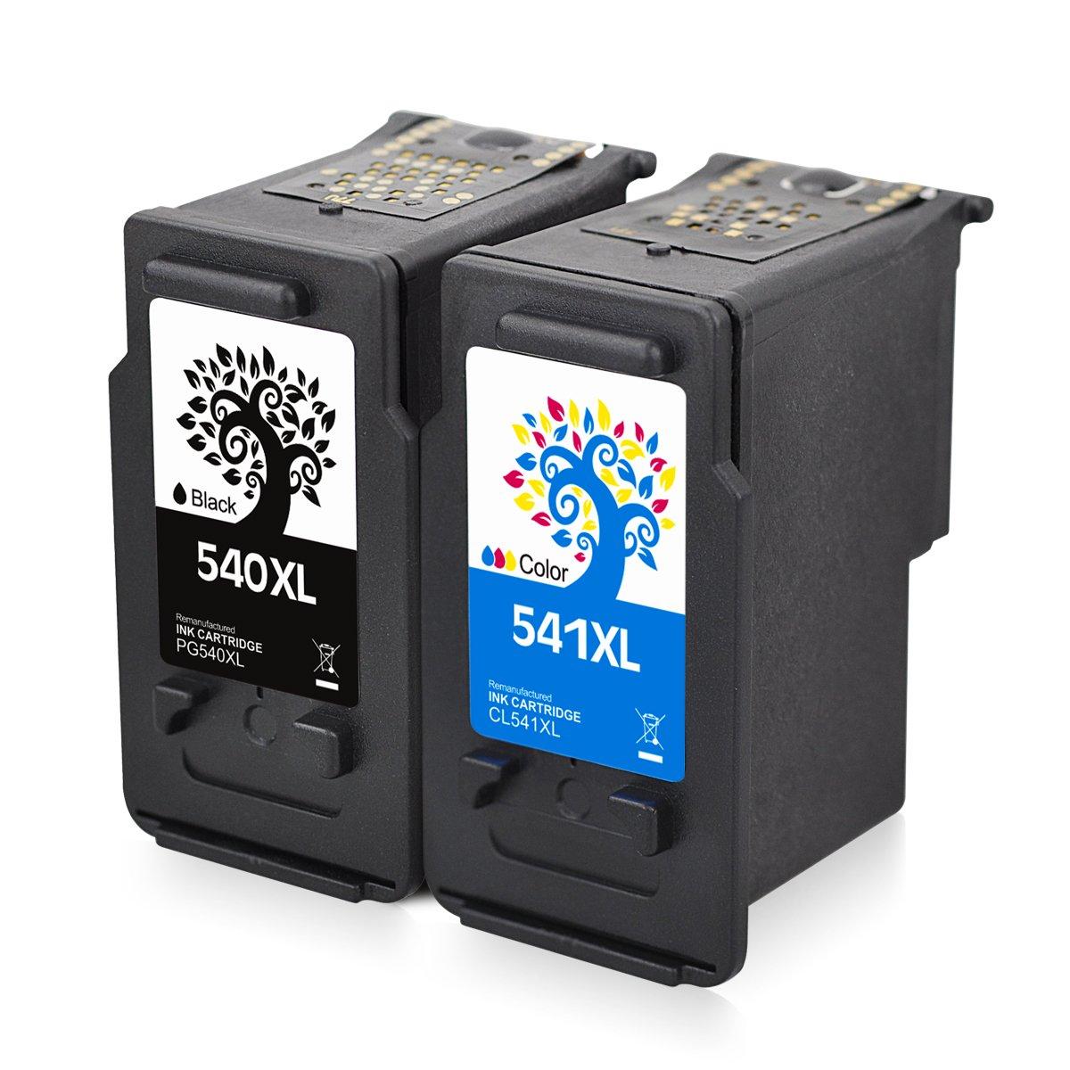 2 paquetes de cartuchos de tinta remanufacturados PG-540XL CL ...