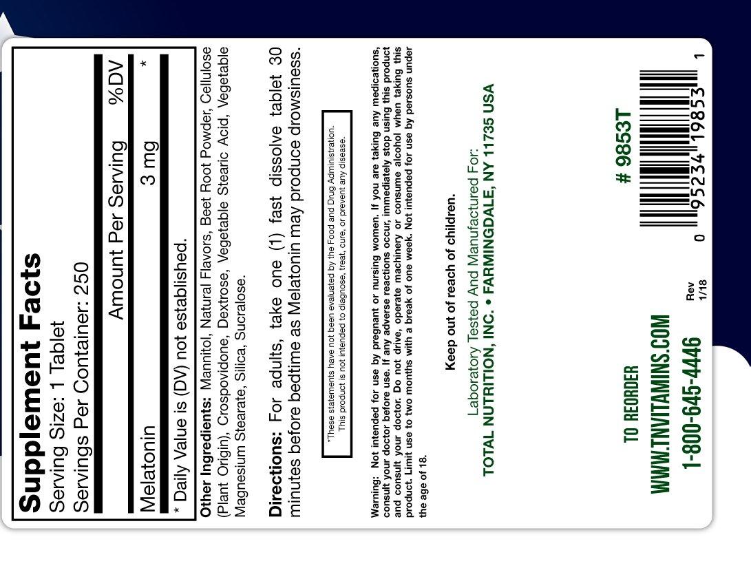 Amazon.com: Melatonin 3 Mg - 250 Tablets: Health & Personal Care