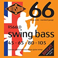 Rotosound RS66LD Swing Bass 66 Stainless Steel Bass Electric Bass 4 String Set (45-105)