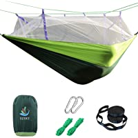 SZXKT Parachute Fabric Double Hammock for Travel, Hiking, Backpacking (Green or Blue)