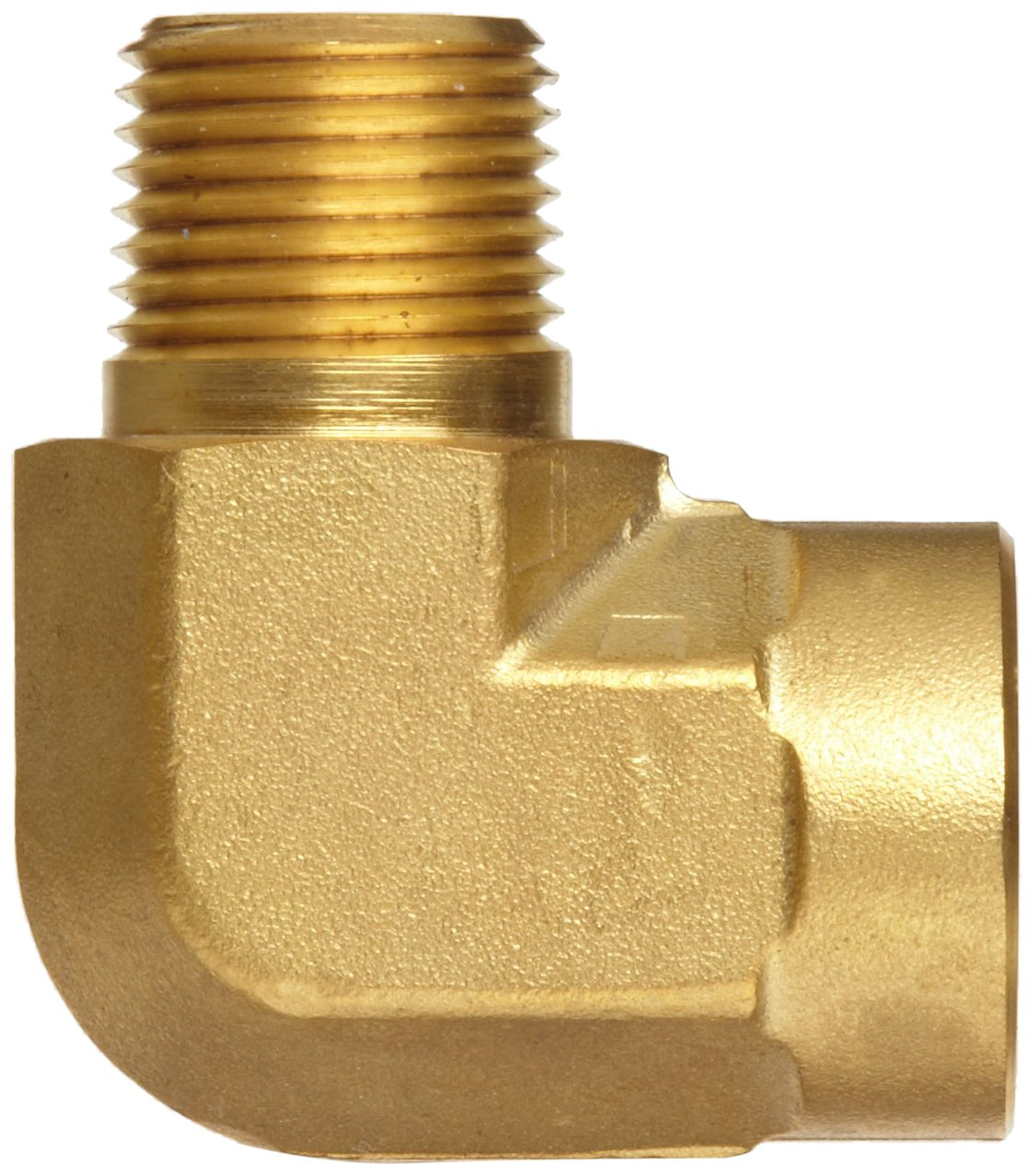 Parker brass pipe fitting degree street elbow