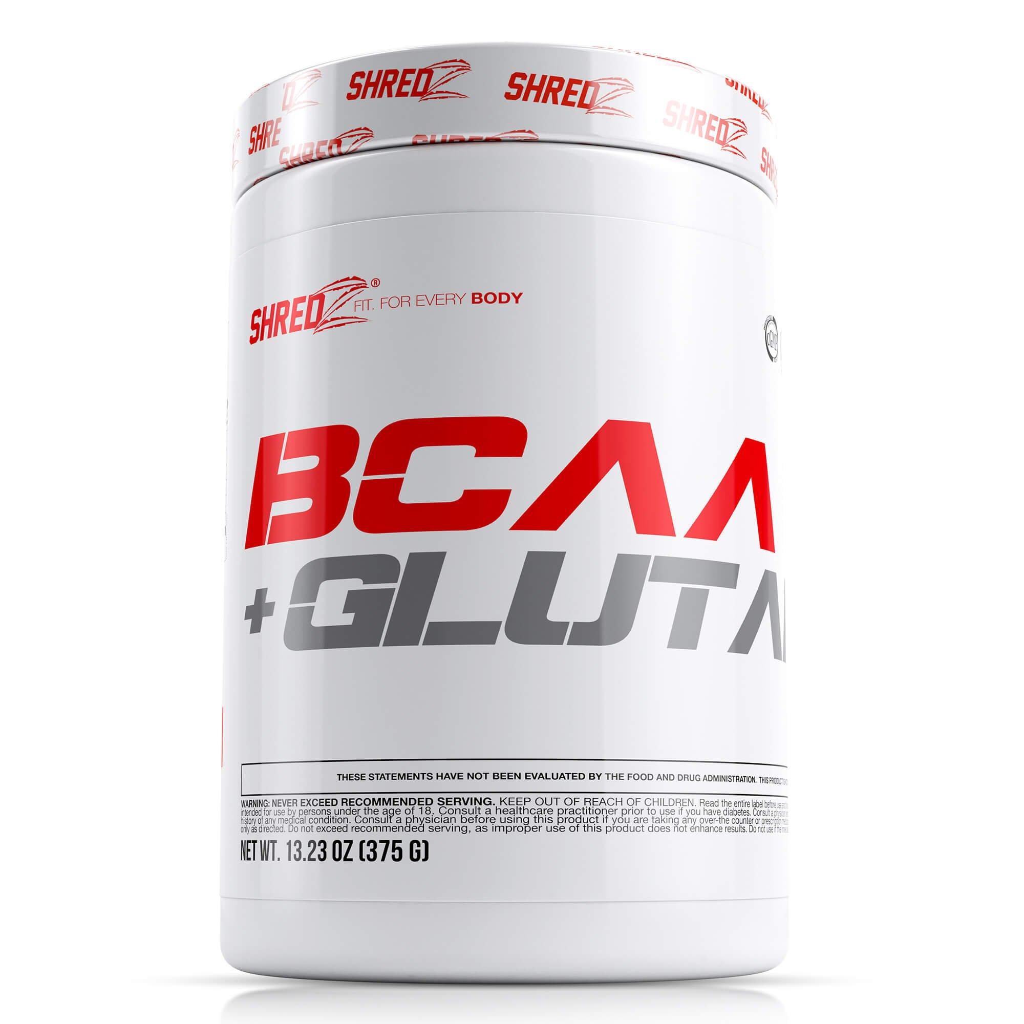 SHREDZ® BCAA + Glutamine: Workout Recovery, Enhance Mood, Boost Energy 13.23 oz (375g)
