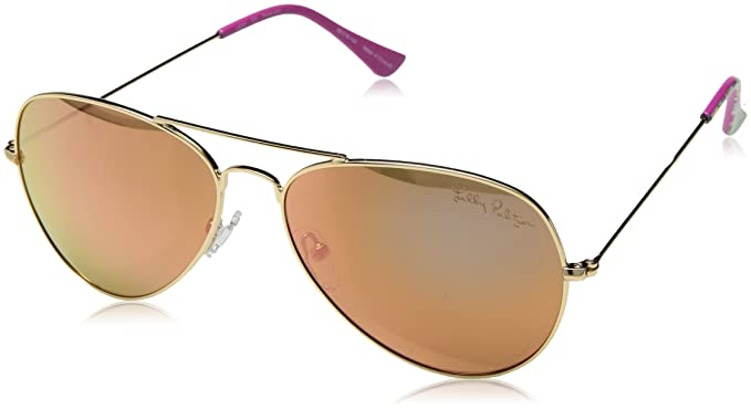 64121b8941133 Amazon.com  Lilly Pulitzer Women s Lexy Polarized Aviator Sunglasses ...